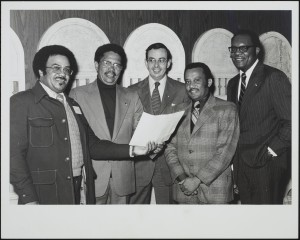 North Carolina Minority Business Development Agency Board of Directors, 1973-74. J. Kenneth Lee is second from left.