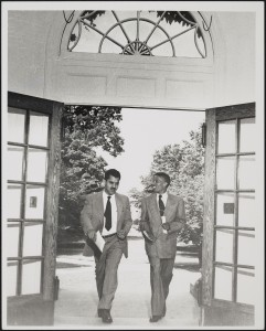 11. Photograph of Beech and Lee, first day of classes at UNC, 11 June 1951.